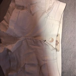 White 00 Hollister Jean shorts